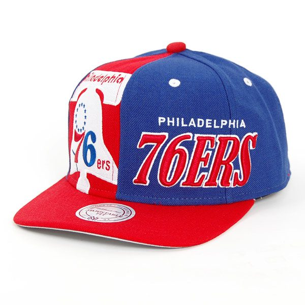 Mitchell & Ness Quartel Panel 76`ers Snapback