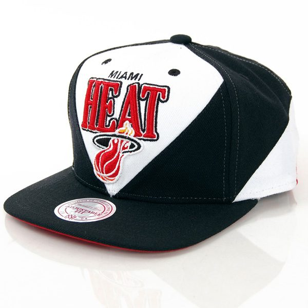Mitchell & Ness Tri Panel Miami Heat Snapback
