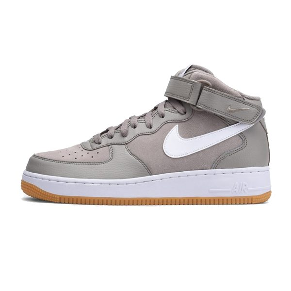 Nike Air Force 1 Mid `07 Shoe Light Taupe White Gum Brown