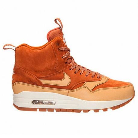 Nike WMNS Air Max 1 Mid Sneakerboot Tawny Sail Gum Med Brown