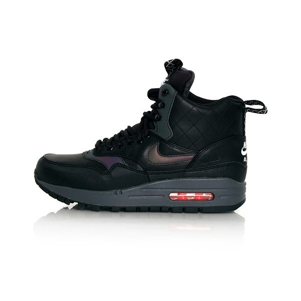 Nike WMNS Air Max 1 Mid Sneakerboot Reflective Black Bright Crimson