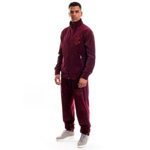 Rocawear Velour Set Wine Red