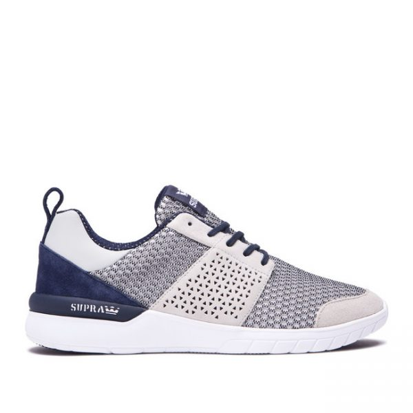 Supra Scissor Grey Navy Sneakers