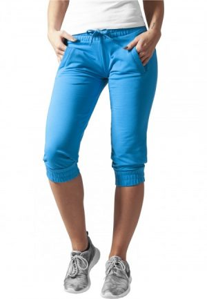Urban Classics Ladies French Terry Capri turquoise