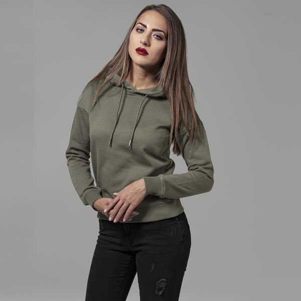 Urban Classics Ladies Hoody olive