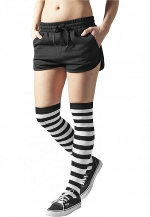 Urban Classics Ladies Striped Socks blk/wht