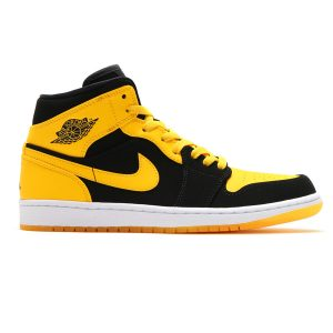 Air Jordan Retro 1 Mid Black Varsity Maize