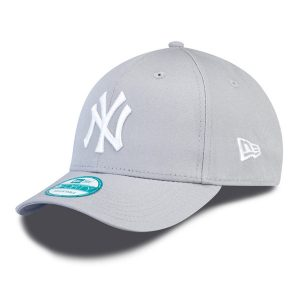 5b902e97 Kids NEW ERA 9FORTY YOUTH MLB LEAGUE BASIC NEW YORK YANKEES GREY WHITE – UNI